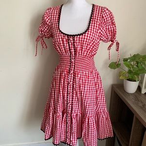 🌛Hell bunny🌛 pinup 1950s style plaid dress
